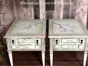 Refinished antique end tables/side tables