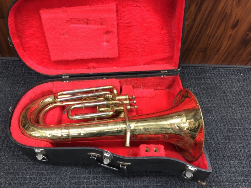 Triebert Brass Horn For Parts, Not Working with Case