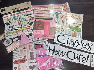 Baby/Toddler Girl Scrapbooking Packages $10 each