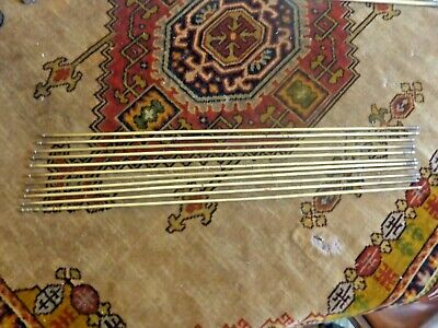 ANTIQUE SET of 13 (11+2) BRASS STAIR RODS - 26