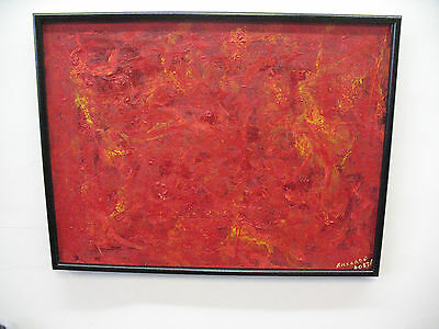 ORIGINAL PAINTING  DANTE ALIGHIERI'S INFERNO OIL ON  CANVAS  FRAMED  SIGNED