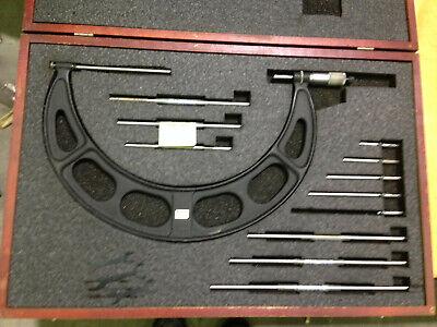 Starrett 224 6-12 Micrometer W All Standards Anvils Good Case