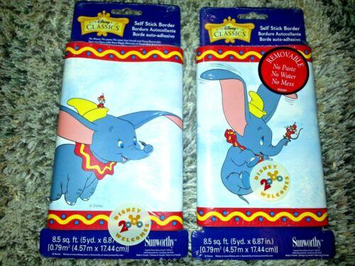 DUMBO CIRCUS Disney SELF STICK WALLPAPER BORDER Baby Kid Room NURSERY DECORATION