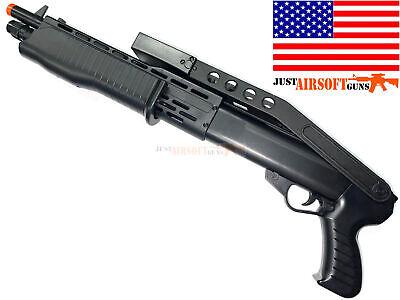 Airsoft Shotgun Spring Powered Pump Action SPAS 12 Foldable Stock FREE 1000 BBs