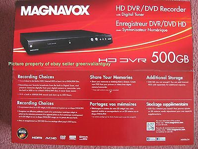 Magnavox 500GB MDR865H/F7 HD 1080P HDD DVR DVD Recorder Digital Tuner MDR557H