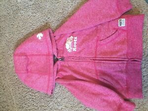 Roots pink hoodie 12-18 months (size large) baby