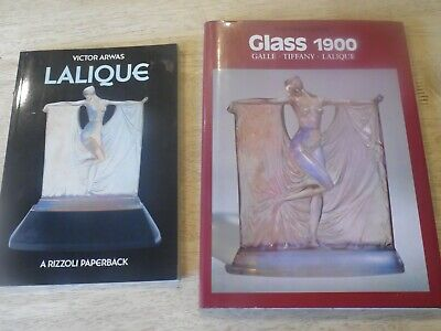 Two books on Lalique glass Galle Tiffany