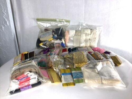 Huge Lot of Bindings, Lace, Trim, Elastic-Vintage