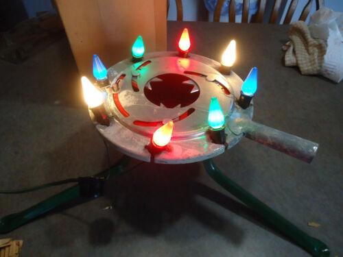 vtg Christmas tree stand with lights Holiday