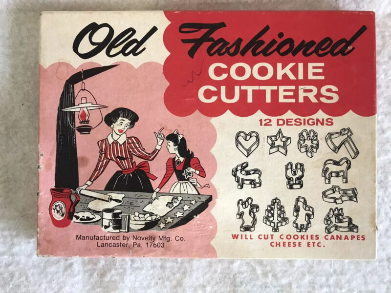Vintage Old Fashioned Cookie Canapés Cutters 12 Pieces Assorted Holiday + Shapes