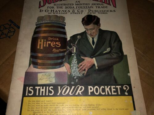 """VINTAGE RARE CLEAN c.1907 """"THE SODA FOUNTAIN"""" MAGAZINE FOR THE TRADE HIRES"""