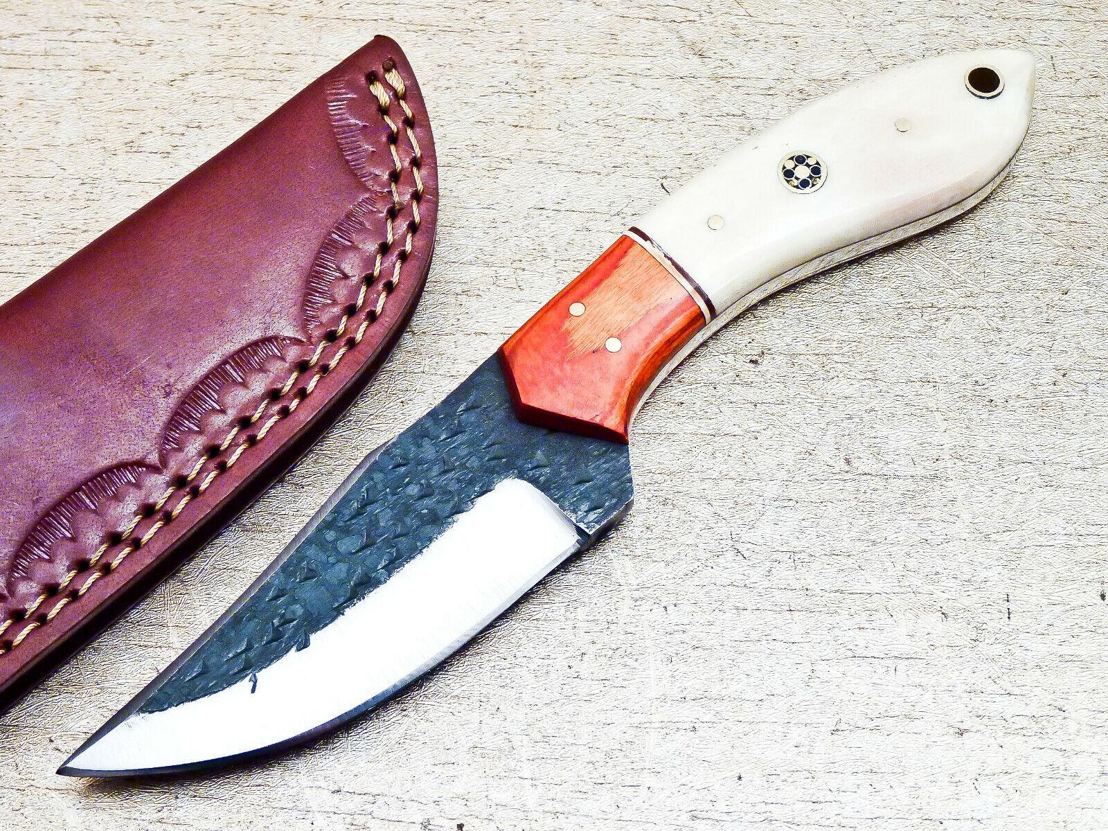 Elegant Custom Hand Forged Railroad Spike Carbon Steel Fixed Blade Knife UT-7997 - $13.00