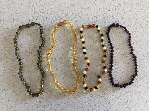 genuine baby amber teething necklaces $15 each Moorebank Liverpool Area Preview
