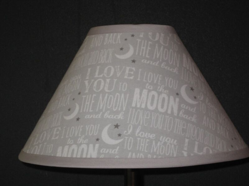 Love You to the Moon and Back Fabric Nursery Lamp Shade
