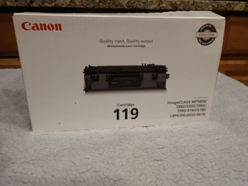 New Damaged Box - Genuine Canon Toner Cartridge 119/ 3479B001