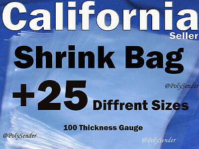 4 To 24 Shrink Wrap Film Flat Wrap Crafts Jewelry Bags Pvc Packaging 100 Gauge