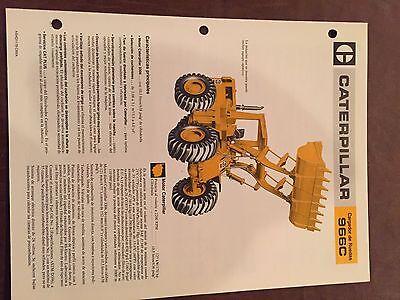 Cat Caterpillar 966c 966 Wheel Loader Brochure Original Antique