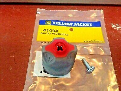 Yellow Jacket Brute-ii Manifold Handle Red 41094 Refrigeration Gauge Knob