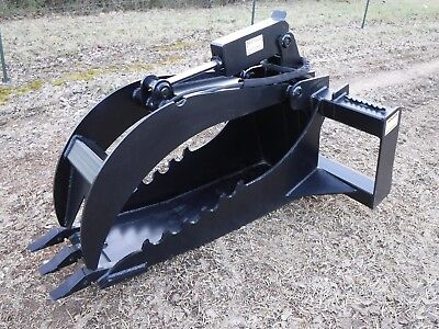 Kubota Skid Steer Extreme Duty Stump Bucket Grapple Attachment - Free Shipping