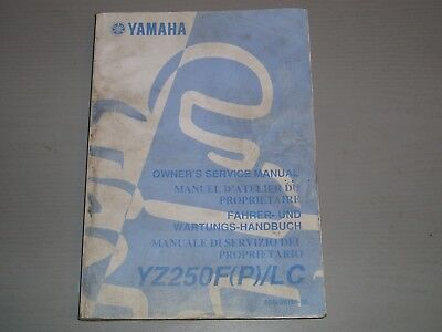 YAMAHA YZ250F (P) / LC WORKSHOP MANUAL, PART # 5SG-28199-30 for sale  Shipping to South Africa