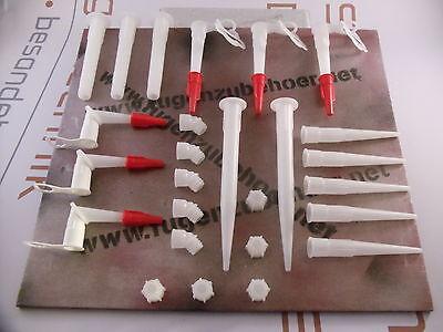 Düsenset 26-teilig für Kartuschen Silikondüsen Düsen Kartuschendüsen Formteile