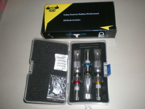 DANIU 3Pcs Tubular 7 Pins Lock Pick Tool Locksmith Tool Lock Pick Set