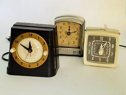 Telechron 8HA61 Vintage Alarm Art Deco Clock + Bonus