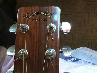 Vintage 1977 Takamine  6 string Lawsuit Era acoustic guitar w/ case