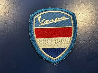 "Vespa France Flag ""Retro""  Shield Patch Sew-on/Glue-on Leather Jacket NEW"