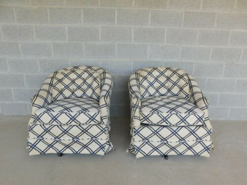 Vintage Harden Furniture Hollywood Regency Style Swivel Rocking Chairs - a Pair