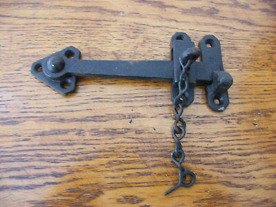 OLD VINTAGE STOCK  IRON LATCH WITH LOCKING PIN  el6