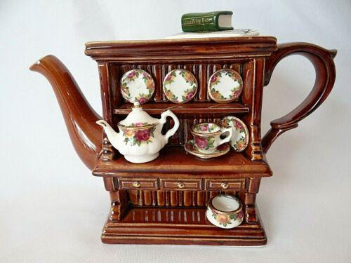 Royal Albert Old Country Roses Mini Teapot Welsh Dresser Cardew Design