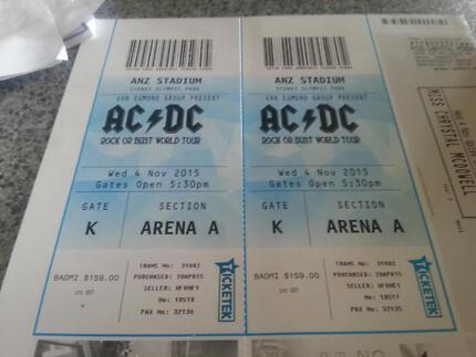2× AC/DC tickets Young Young Area Preview