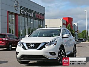 2016 Nissan Murano Platinum AWD 44,128 KMS.  FACTORY WARRANTIES