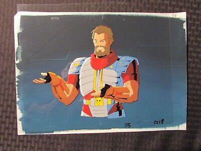 "1995 SKELETON WARRIORS Cartoon 12.5x10.5"" Animation Cel & Background 115-G18 94"