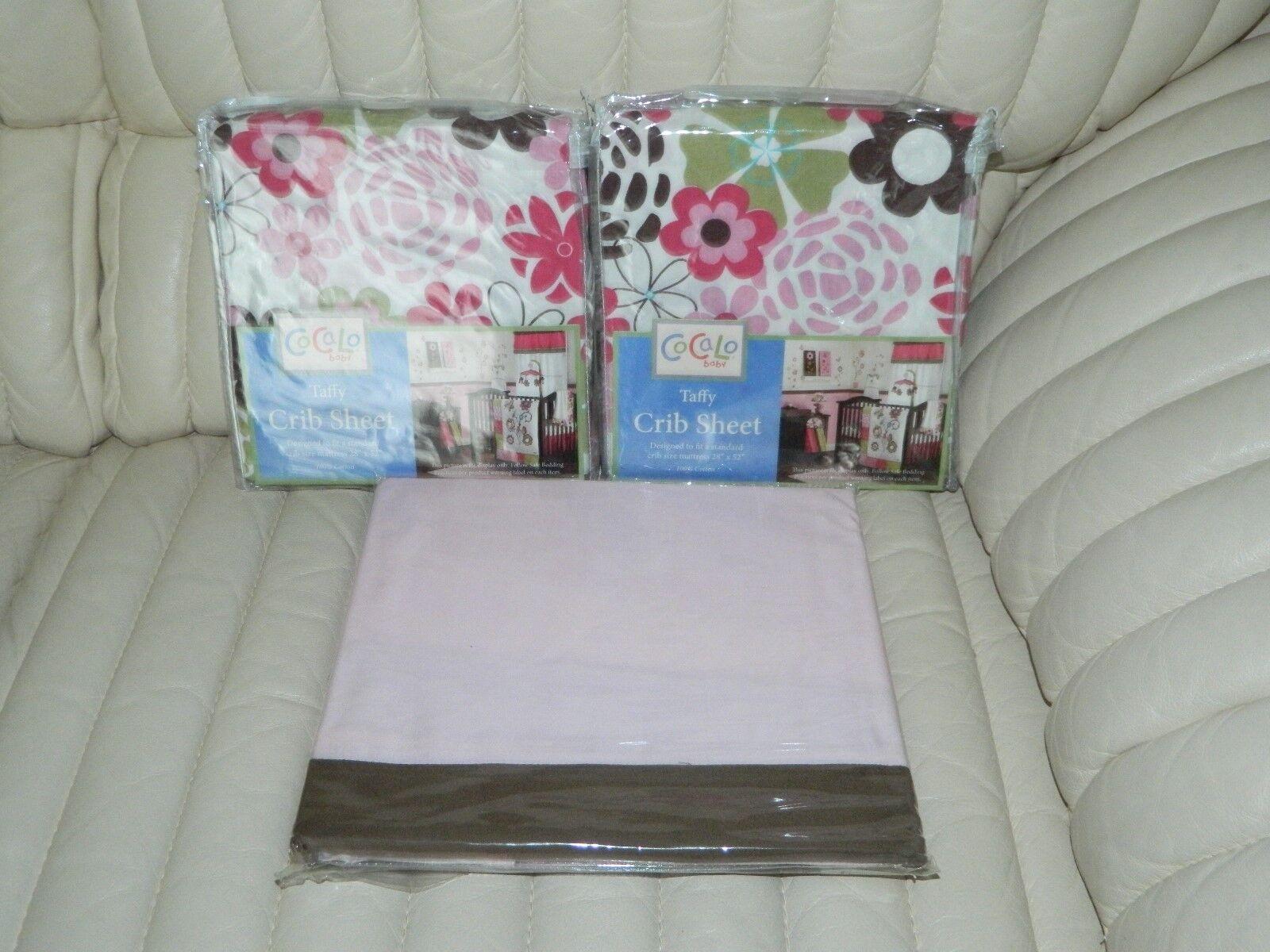 CoCaLo Baby Taffy Baby Girl Nursery Crib Sheet Pink