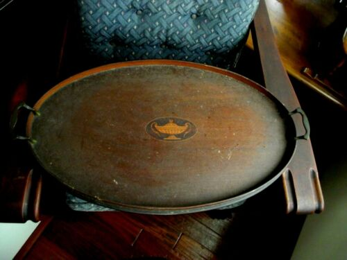 Antique Manning Bowman Mahogany Serving Tray Middletown Conn.