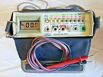 Fluke 8012a Bench Meter Dmm Digital Multi-meter Volt Ohm Amp Meter 3-12 Digit