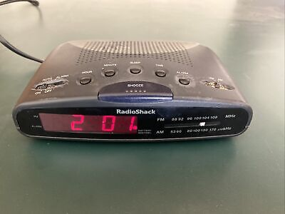 Radio Shack AM-FM Radio Digital Alarm Clock 12-1630