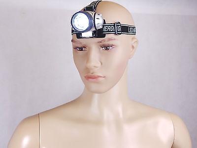5xLED Stirnlampe mit 7 LED`s-Leuchtstärke einstellbar RESTPOSTEN Angeln Camping