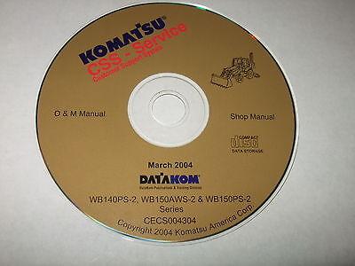 Komatsu Wb140ps-2 Wb150aws-2 Wb150ps-2 Loader Backhoe Service Shop Repair Manual
