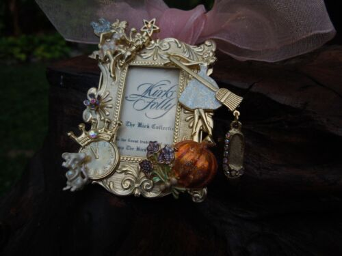 RARE Vintage Kirks Folly Fairy Tale Cinderella Mirror Picture Frame Brooch