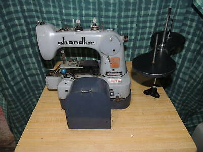 Chandler 485p Button Industrial Sewing Machine W Table Base Table Motor
