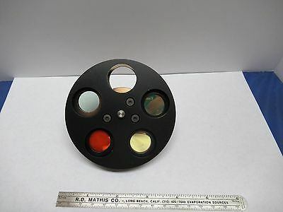 Optical Wyko Interferometer Filter Wheel Very Nice Optics As Pictured 85-34a