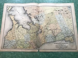 Central and Northern Ontario antique atlas plate