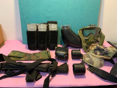 Paintball Gear Bottles Mask Bags Hat Belt (ESTATE STUFF) (USED)