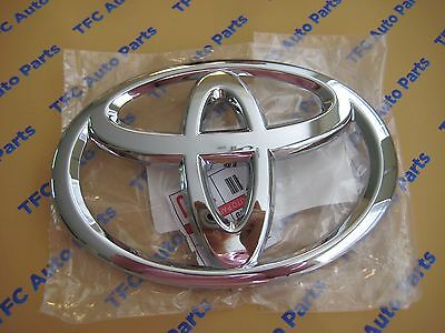 Toyota Tacoma Tundra Sequoia Chrome Front Grille Emblem Genuine OEM New