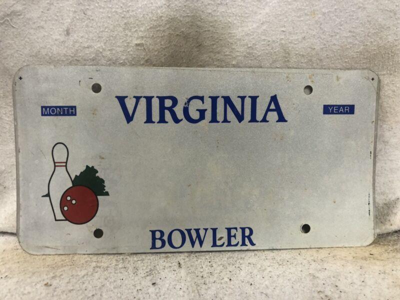 Virginia Bowlers License Plate Blank