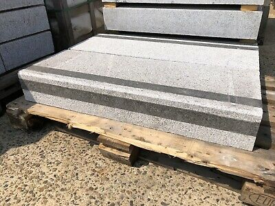 STUNNING BULNOSE  GRANITE KERBS , EDGING ,STEPS SILVER GREY - CAN DELIVER