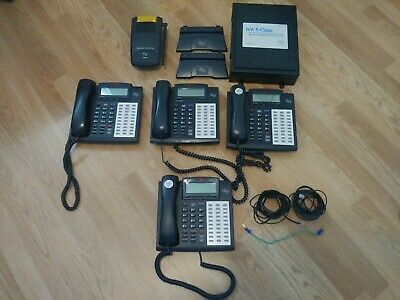 Esi Telephone System With 4 - 48 Key Hdfp Telephones Lightly Used